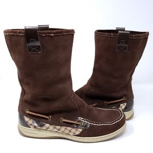 Sperry Top Sider Womens Boots Suede Moc Toe